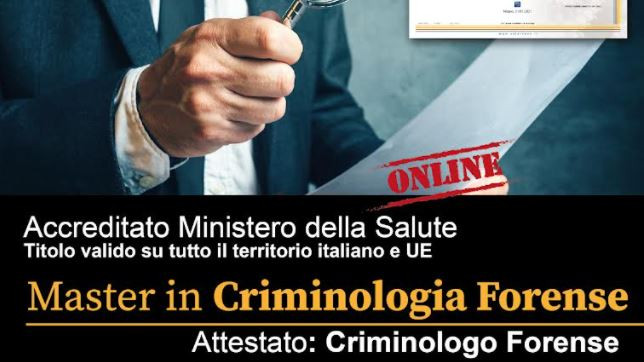 MASTER IN CRIMINOLOGIA FORENSE