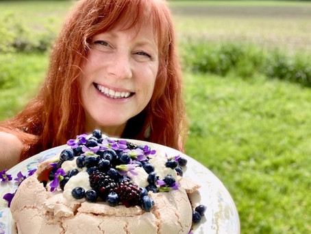 Violets, Gin, and Pavlovas