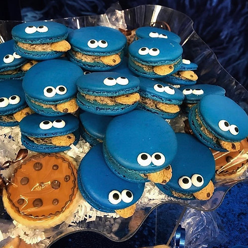Cookie Monster Macarons - Local Delivery