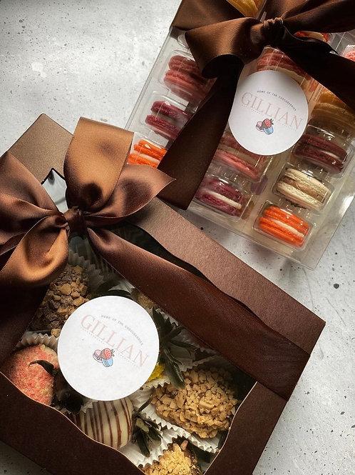 Bundle Package - Gourmet Strawberries and Macarons