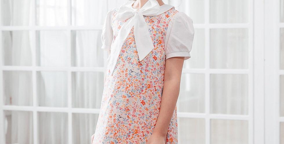 Sweet Vanilla Cotton A-line Dress