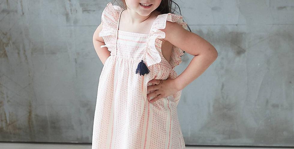 Pink Striped Printed Dress