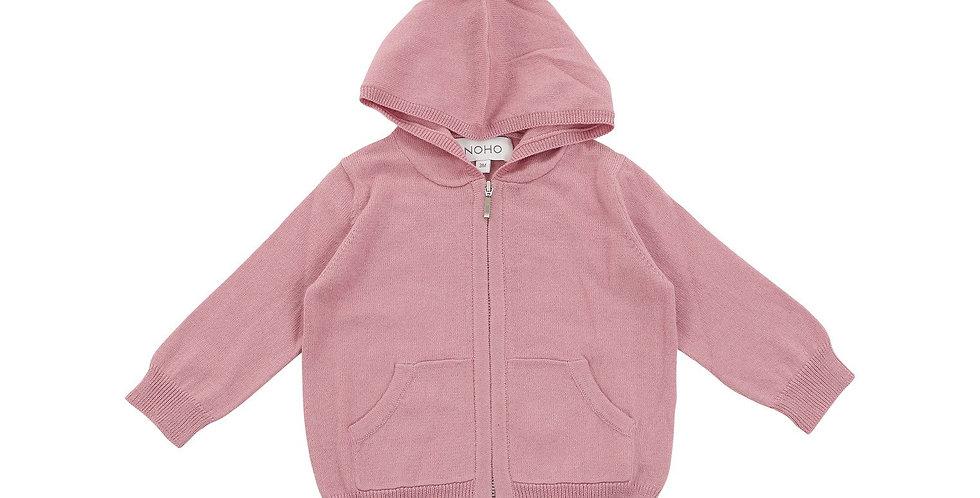 Cotton Cashmere Pink Hoodie