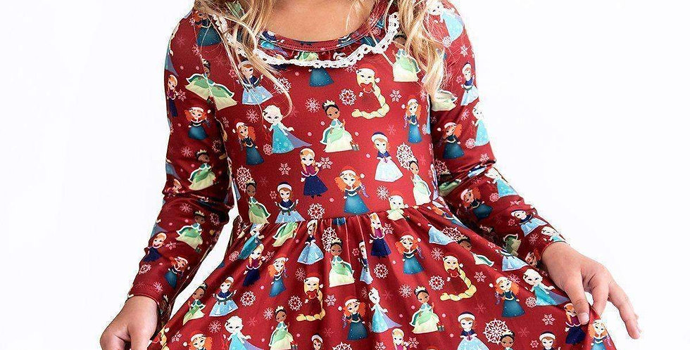 Winter Princess Twirl Dress