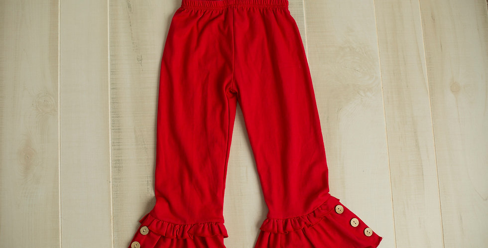 Red Ruffle Pant