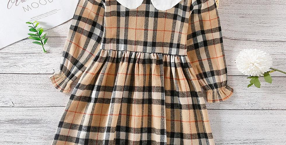 Plaid Print Autumn Long Sleeve A-Line Dress