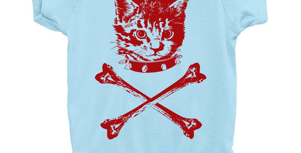 Kitten Crossbones Onesie