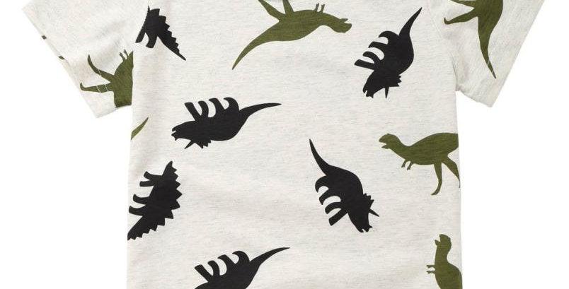 Boys Summer Dinosaur T Shirt