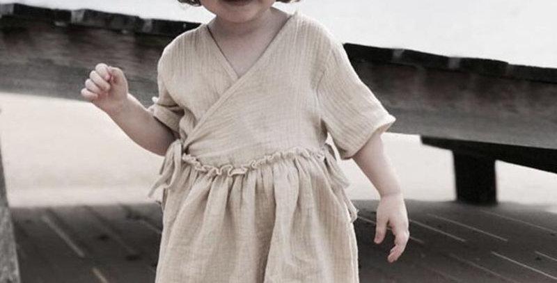 Cotton Summer Wrap Dress