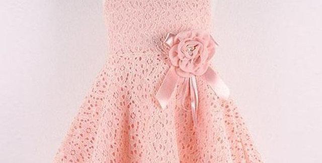 Princess Girls Full Floral Lace Dress