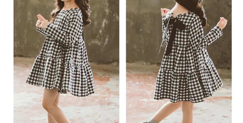 Black and White Plaid Dress