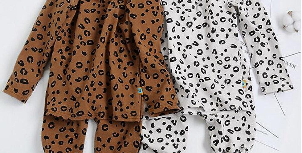 Leopard Print Pajamas Set