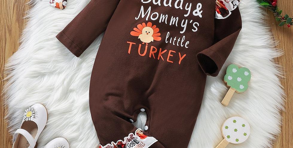 Little Turkey Thanksgiving Romper