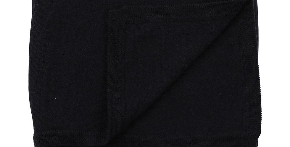 Cotton Cashmere Navy Blanket