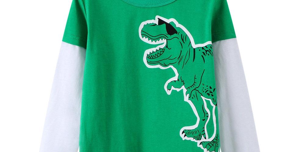 Dinosaur Printed Long Sleeve T-Shirt