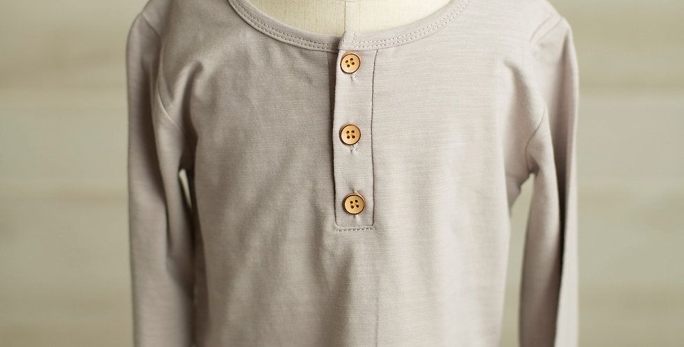 Boys Solid Henley Top