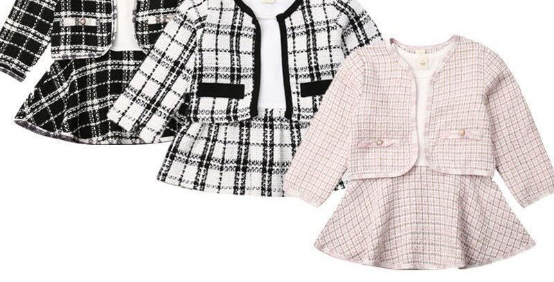 Plaid Coat and Dress Outfit