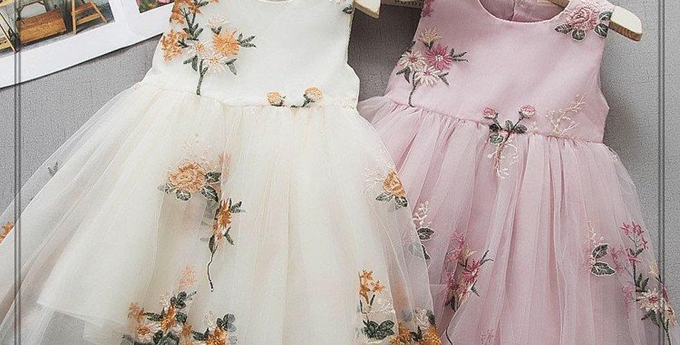 Girls Flower Party Dress