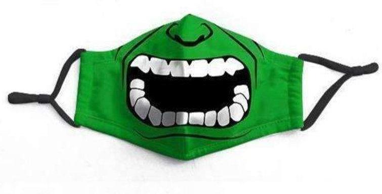 Green Hulk Character Washable Non-Medical Face-Mask - RTS