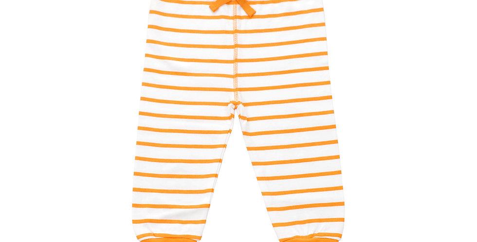 Cozy Pants in Orange Marseille Stripe