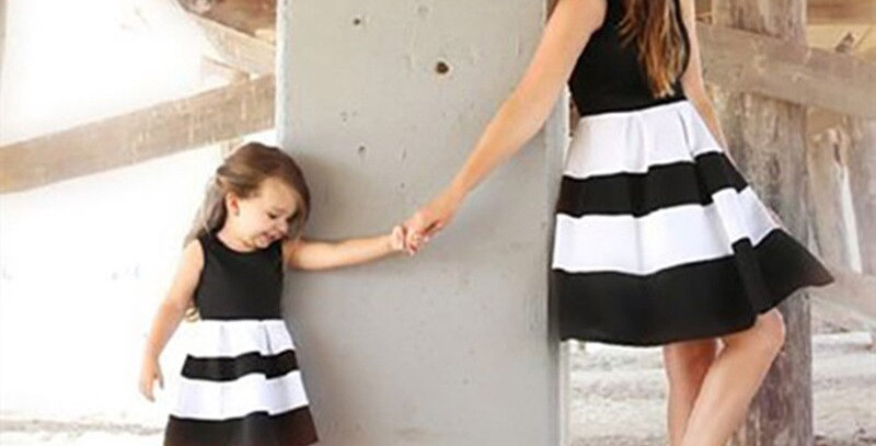 Mommy and Me Summer Striped Dresses