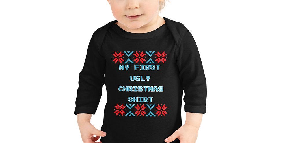 Infant Ugly Christmas Long Sleeve Bodysuit