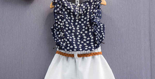 Floral Sleeveless Shirt and Shorts Suit