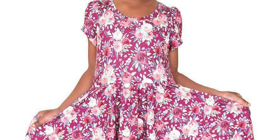 Harmony Floral Twirl Hugs Dress - RTS