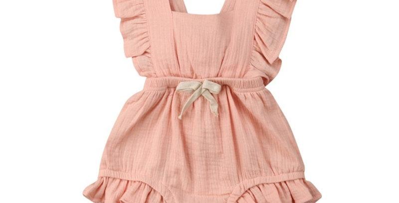 Newborn Baby Girl Ruffle Cotton Romper