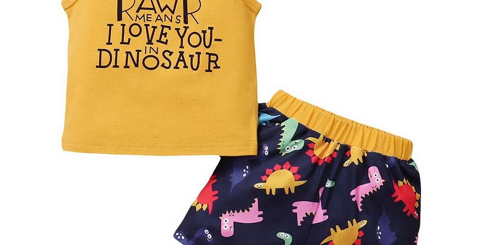 Dinosaur Shirt and Shorts Set