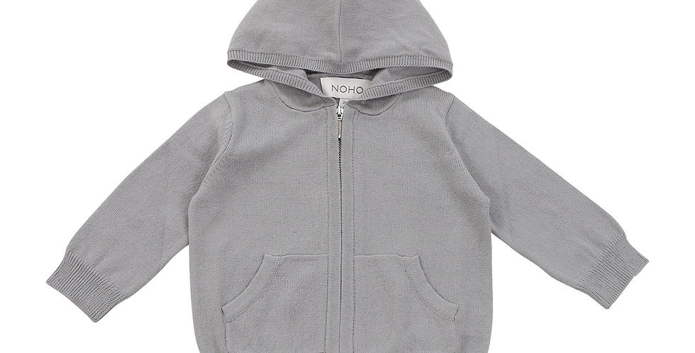 Cotton Cashmere Grey Hoodie