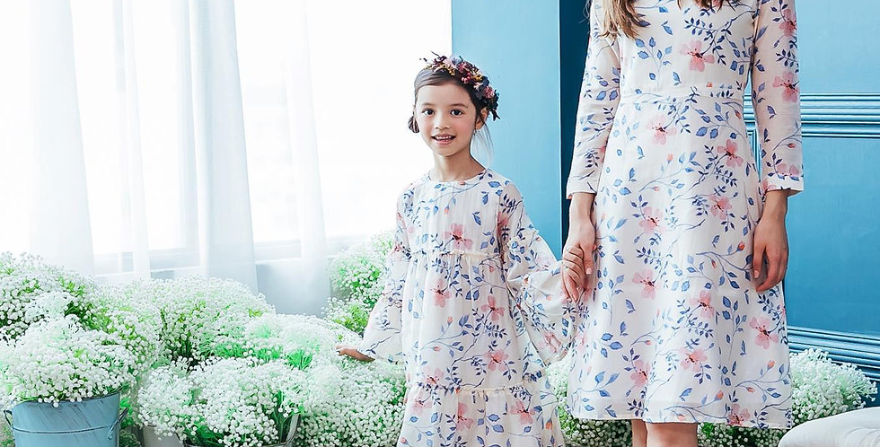(Mommy & Me) Floral midi dress (set of 2)