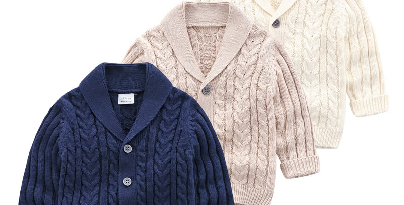 Cotton Knitted Cardigan Sweater