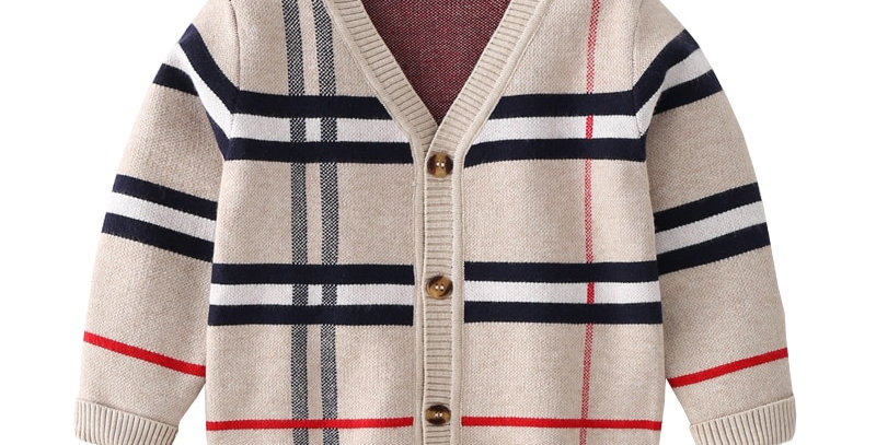 Cardigan Plaid Sweater