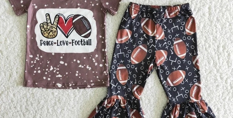 Peace Love & Football Shirt with Pants Outfit