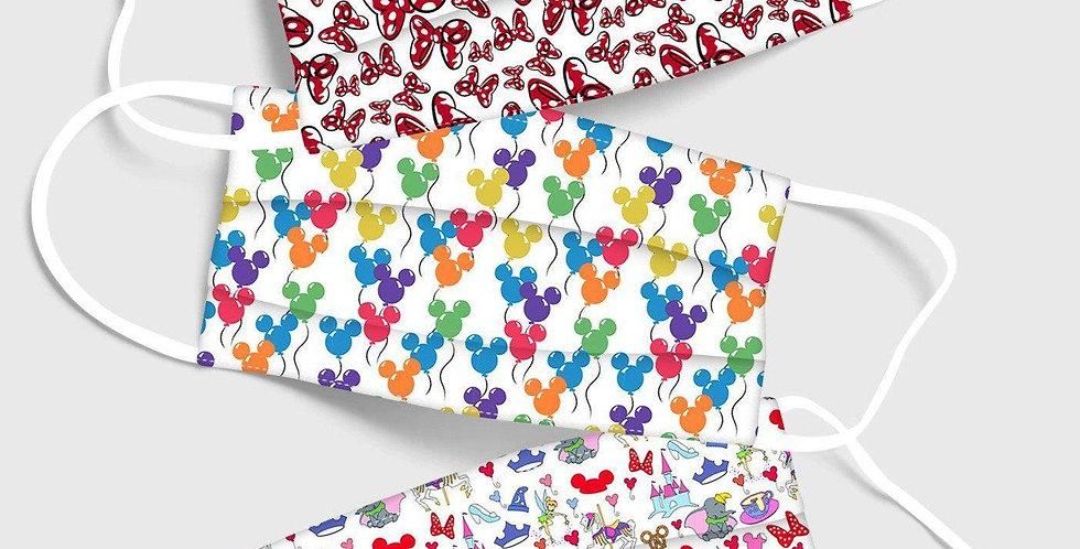 Mini Bows & Balloons Set 17 - Washable Face Masks 3/Pack - RTS