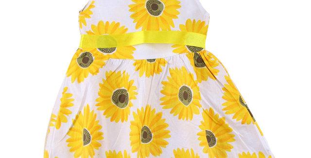 Girls Summer Sunflower Dress Fashion