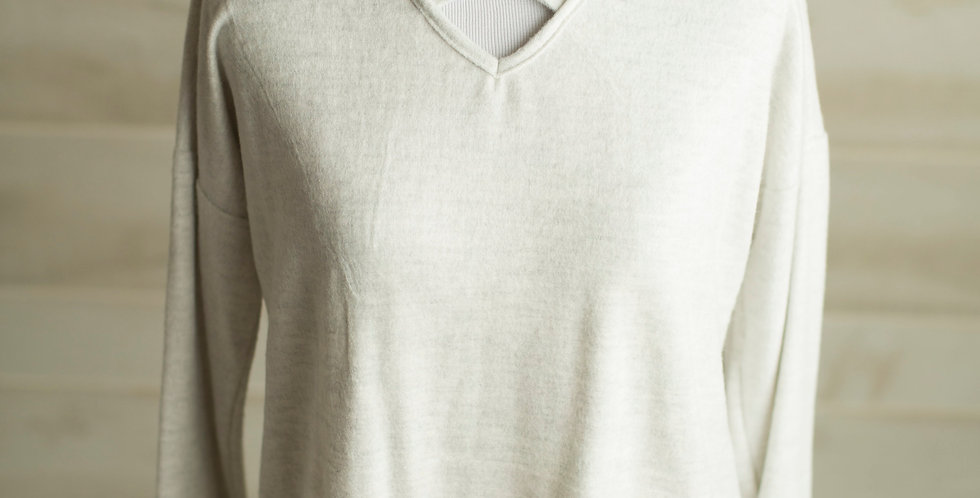French Terry Sweater Top
