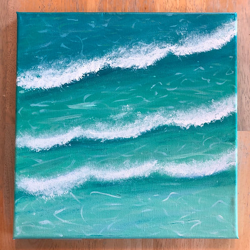 """""""Wading"""" Acrylic Painting on 12x12 Canvas"""