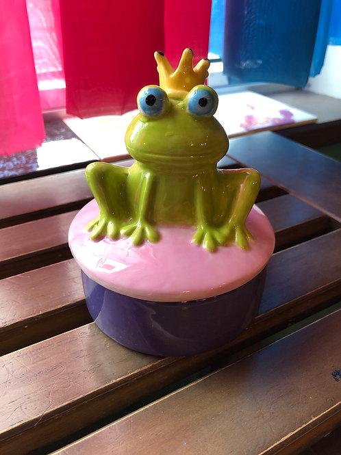 Pottery - Frog Prince Box