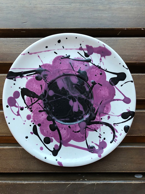 Pottery - Splattered Small Plate 7.25""