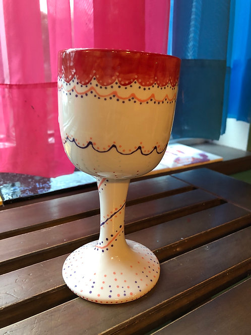 Pottery - Wine Goblet