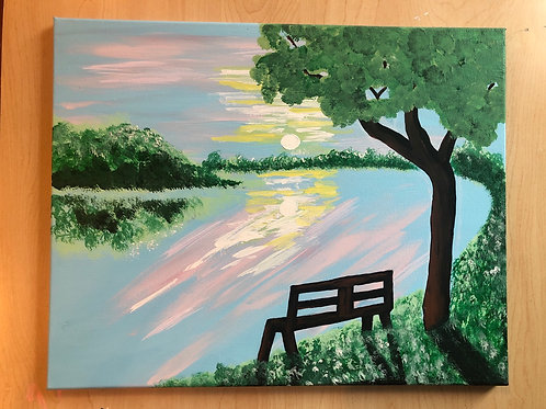 """River of Dreams"" Acrylic Painting on 16 x 20 Canvas"