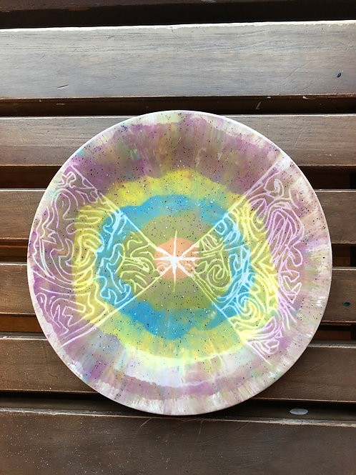 """Pottery - Abstract Small Plate 8"""""""