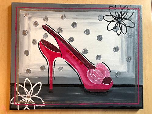 """Dress Shoe"" Acrylic Painting on 16 x 20 Canvas"