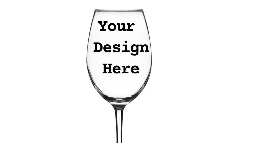 Set of 2 Custom Wine Glasses