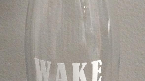Wake Pray Slay Rhinestone Tumbler
