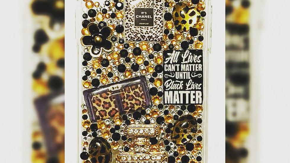 """Custom """"Gold"""" Bling Phone Case"""