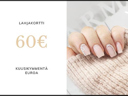 Sähköinen lahjakortti 60 euroa