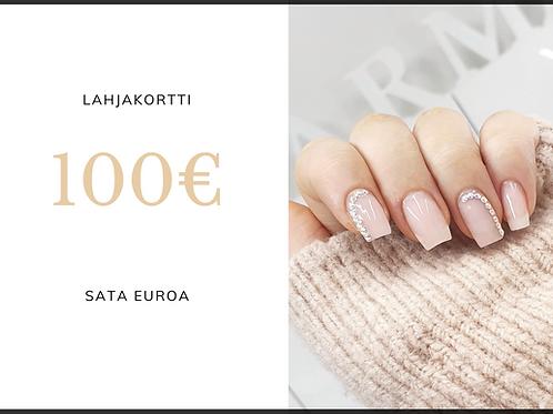Sähköinen lahjakortti 100 euroa